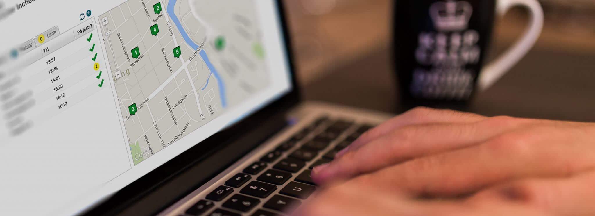 admisterara digitala stämpelklocka från kontoret